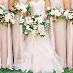 bridesmaid outfit with adrianna papell blouson taupe/pink - Google Search