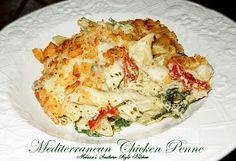Melissa's Southern Style Kitchen: Eezy Peezy Mediterranean Chicken Penne