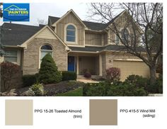 Ppg 1097 3 toasted almond for the stucco. ppg 15 21 curlew for the