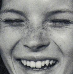 "vaspour: "" The Face July 1990 Kate Moss by Corinne Day "" I Love To Laugh, Happy Smile, Smile Face, Make You Smile, Pretty People, Beautiful People, Beautiful Things, Heroin Chic, Laughter The Best Medicine"