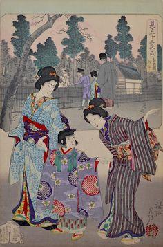 Chikanobu, Scenes for the 12 Zodiac Signs - Sheep-