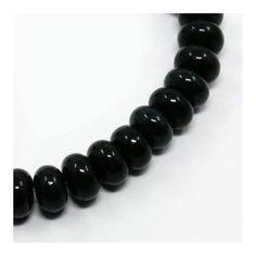 Jáde abacus ásványgyöngy 8x5 mm Fekete - Ásványok - Csinálj Ékszert! webáruház