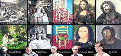 <<<  >>>  2 de 2  En la lista de los grandes. El trabajo de Cecilia, comparado con las lecturas que los más famosos hicieron sobre las obras sagradas de la historia del arte.
