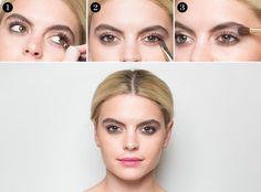 maquillage yeux en amande couleur noisette, diy idee maquillage