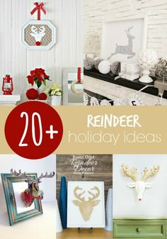 Reindeer Holiday Ideas - love these!