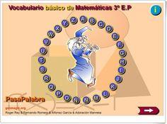 """Pasapalabra: """"Vocabulario básico de Matemáticas de 3º de Primaria"""" (Genmagic.org)"""