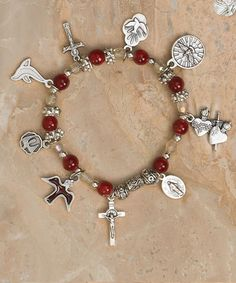 CGC Gift Shop: Confirmation Bracelet with Medals Catholic Gifts, Religious Gifts, Stretch Bracelets, Beaded Bracelets, Confirmation Gifts, Gift Store, Holy Spirit, Pendants, Charmed