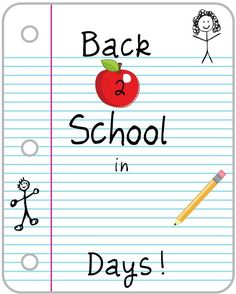 Crafty Confessions: Back 2 School Countdown Printable