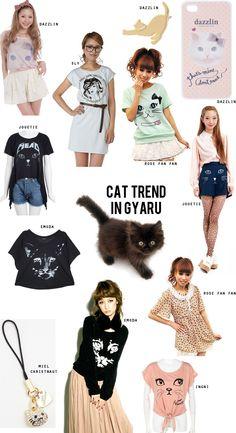 Trendwatching: Cat Print in Gyaru Fashion