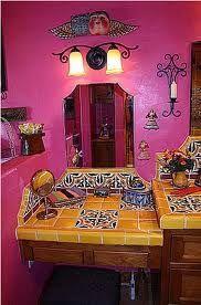 Cocina de color rosa fuerte