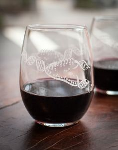 Share a bottle of wine with your beloved or keep the whole thing for yourself to make for more interpretive thesis writing! Either way, these printed glasses will keep you (+/- your company) in style. These stemless glasses are printed with a satin etch ink that closely mimics the visual and tactile effect of etching. The ink  has a slight course texture which is raised off the surface of the glass. Sold by the pair. 100% Made in the USA <-----WANT!!!!