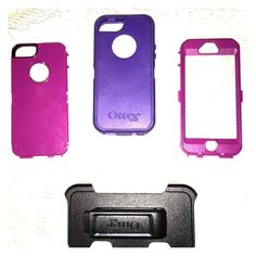 iPhone5 otter box Purple two toned iPhone 5 otter box defender series with black clip. Was not used much but does not have the original packaging OtterBox Accessories Phone Cases