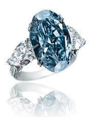 16.26 million Chopard Blue Diamond ring set in white Gold