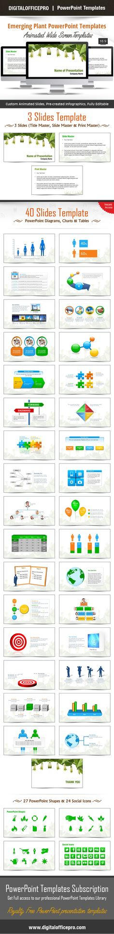 Impress and Engage your audience with Emerging Plant PowerPoint Template and Emerging Plant PowerPoint Backgrounds from DigitalOfficePro. Each template comes with a set of PowerPoint Diagrams, Charts & Shapes and are available for instant download.