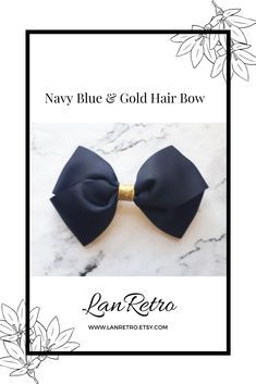 A stylish hand-crafted hair bow made from quality grosgrain ribbon. Perfect for any ocassion. It has an uncovered alligator clip attached to the back so it can be placed securely in the hair. Length 4ins/10cm x Width 5.5ins/13.5cm Gold Hair Bow, Handmade Hair Accessories, Making Hair Bows, How To Make Bows, Grosgrain Ribbon, Headbands, Homemade Business, Tween Girl Gifts, Girl Hair Bows