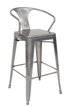 $54 a unit. 30in seat height, Indoor/Outdoor Steel Barstool in Clear Coat Finish
