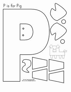 Preschool Letter Crafts, Alphabet Letter Crafts, Abc Crafts, Letter Tracing, Letter Art, Letter P Activities, Letter Worksheets For Preschool, Preschool Activities, Apple Activities