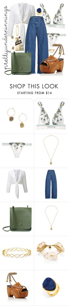 """Pretty things"" by aimlovec ❤ liked on Polyvore featuring La Perla, Marques'Almeida, Kimberly McDonald, Bourbon and Boweties, Simon Miller and BaubleBar"
