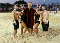 Easy No-Sew Playboy Bunnies Group Costume... Coolest Halloween Costume Contest