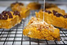 Delightful gluten free & low FODMAP pumpkin scones with maple glaze.