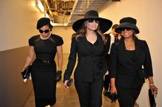 Jackson Sisters .. I believe this is at Michaels funeral...