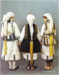 Οι φορεσιά αυτού του χωριού μοιάζει πολύ με την φορεσιά των Αλώνων και έχει πολλά στοιχεία από τη φορεσιά τον Ανταρτικού. Η διαφορά απ' τις... Folk Costume, Macedonia, Fringes, World Cultures, Traditional Outfits, Greek Costumes, Greece, Albania, Bulgaria