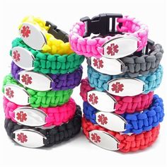 Fun & Fashionable Medical ID Bracelets for Kids, Women & Men.  Colorful & Comfortable for everyday wear! #medicalid #diabetes #epilepsy #autism #allergies #foodallergies #heartdisease #paracord #chicalertmedicalid #awareness #medicalidbracelets Check them out at www.chicalertmedid.com