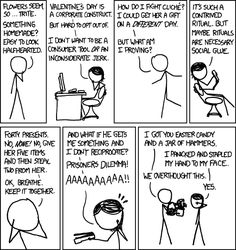 xkcd: valentine's day -- this is too funny/cute Hands To Myself, Dilema, Friday Humor, How I Feel, Happy Valentines Day, Laugh Out Loud, The Funny, Make Me Smile, Decir No
