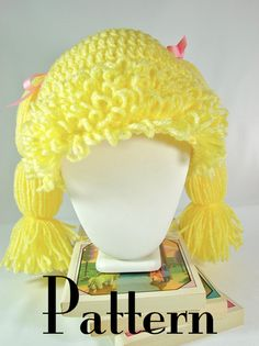 Crochet PATTERN Cabbage Patch Inspired Hat  All by TheLilliePad