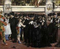 "Édouard Manet - ""Baile de máscaras en la Ópera"" (1873, óleo sobre lienzo, 59 x 72 cm, National Gallery of Art, Washington)"