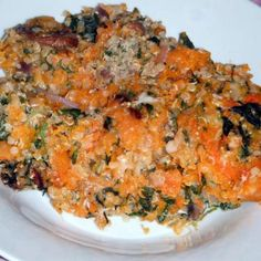 Butternut Squash Quinoa Casserole - Comments say to double the cheese and used mozzarella