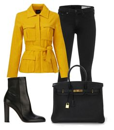 """""""Sem título #6123"""" by ana-sheeran-styles ❤ liked on Polyvore featuring rag & bone, TY-LR, Gianvito Rossi and Hermès"""