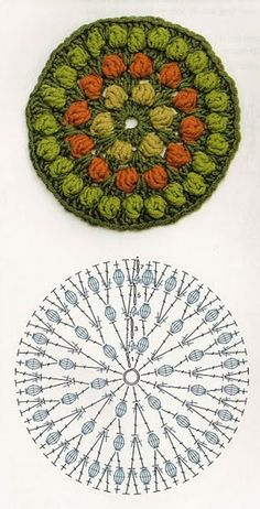 Ideas For Crochet Coasters Pattern Flower Tutorials Motif Mandala Crochet, Crochet Coaster Pattern, Crochet Circles, Crochet Diagram, Freeform Crochet, Crochet Chart, Crochet Doilies, Crochet Flowers, Crochet Stitches