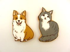 Decorated Cookies - dog and cat