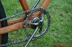 Old Hickory men's wood bicycle 1898