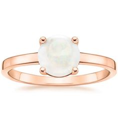 Opal Cadence Diamond Engagement Ring - 14K Rose Gold