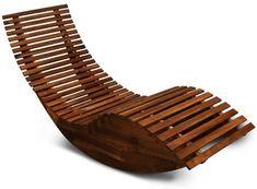 Amazon.de: Schwungliege | FSC®-zertifiziertes Akazienholz | Ergonomisch | Vormontierte Latten | Wippfunktion | Gartenliege Sonnenliege Relaxliege Saunaliege