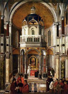 BELLINI, Gentile The Healing of Pietro dei Ludovici c. 1501 Tempera on canvas, 369 x 259 cm Gallerie dell'Accademia, Venice