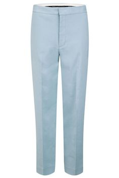 Clean lines and subtle pleating (not to mention a pretty hue) make these trousers particularly noteworthy.