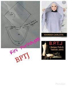 Abaya Fashion, Muslim Fashion, Sewing Patterns Free, Clothing Patterns, Abaya Pattern, Refashion Dress, Hijab Style Tutorial, Abaya Designs, Sewing Lessons