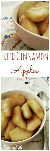 Enjoy the flavors of fall with these super easy fried cinnamon apples. Homestyle recipe using apples, butter, sugar, and brown sugar. Cooking Apple Recipes, Apple Recipes Easy, Side Recipes, Fall Recipes, Yummy Recipes, Recipe Using Apples, Breakfast Recipes, Dessert Recipes, Desserts