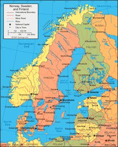 We'll be in Pori, on the West coast of Finland.  See it?
