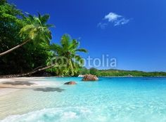 Iakov Kalinin, beach at Praslin island, Seychelles