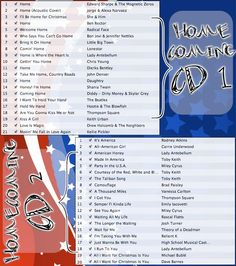 """""""military homecoming playlist :)"""" - Love this!  What a great idea for a party, or just for the drive to and from picking up your loved one! - MilitaryAvenue.com"""