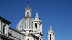 Stock Video Footage: Sant'Agnese In Agone Church, Navona Square - Video Pan  $60