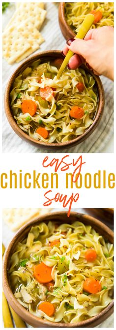 Loaded with good-for-you ingredients and full of flavor and comfort- this Easy Chicken Noodle Soup is perfect for chilly weather but not too heavy for warmer days. #ad #NoYolks #NoOtherNoodle #MC