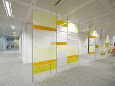 Expositor / panel de separación de escritorios ROD BAR by STUDIO T