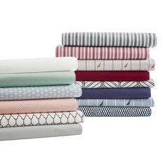 These soft and beautiful sheets have a thread count of over 200 for optimal comfort. Available in a variety of color options, these sheets are sure to accent your decor.