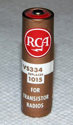 "Vintage RCA ""AA"" Transistor Radio Battery"