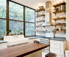 whites, natural woods, hits of stainless steel . . . Kitchen